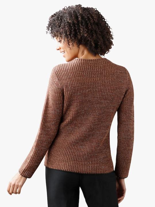 Pullover - roest gemêleerd