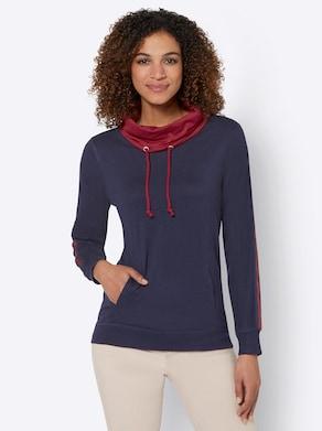 Sweatshirt - nachtblau-kirsche