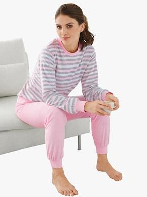 Schlafanzug - rosé-geringelt