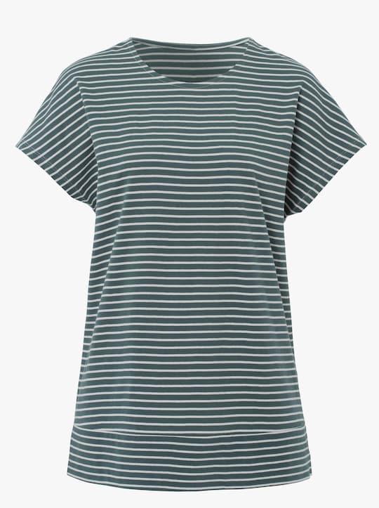 Freizeitshirt - mint-gestreift