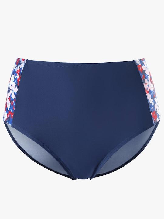 feel good Bikini-Slip - blau-rot-bedruckt