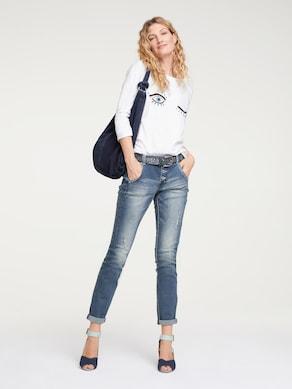 Linea Tesini Boyfriend Jeans - blue stone