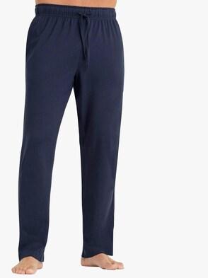 Hose lang - blau + grau-meliert