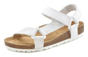 LASCANA Sandale - weiß-silberfarben