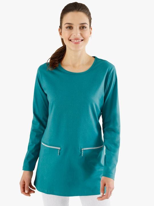 Lang shirt - turquoise