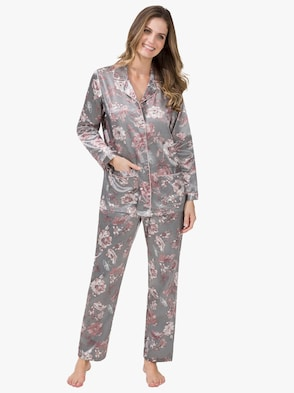Pyjama - grau-bedruckt