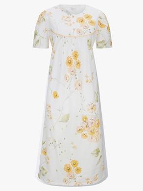 Arabella Nachthemd - weiß-bedruckt