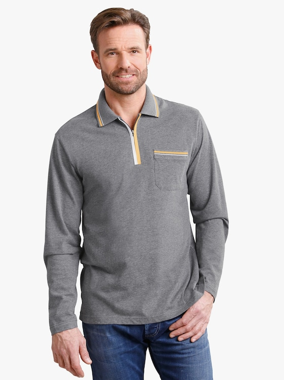 Poloshirt - grau-meliert