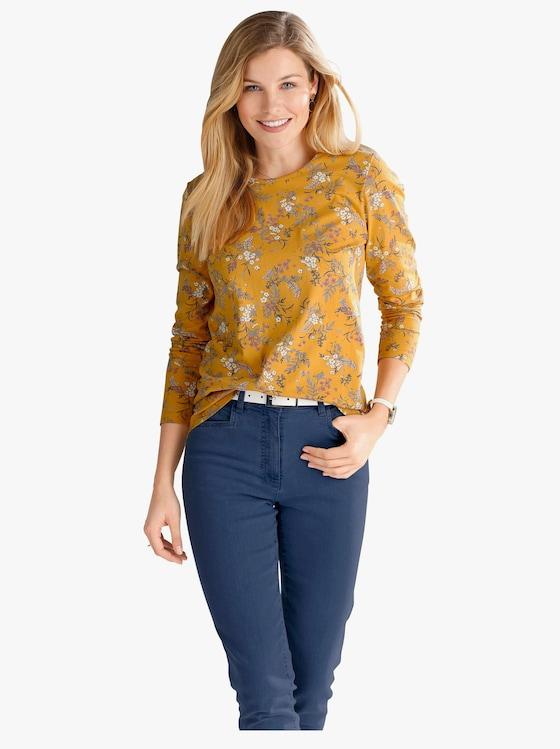 Shirt - oker geprint