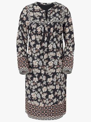 Kleid - schwarz-rost-bedruckt