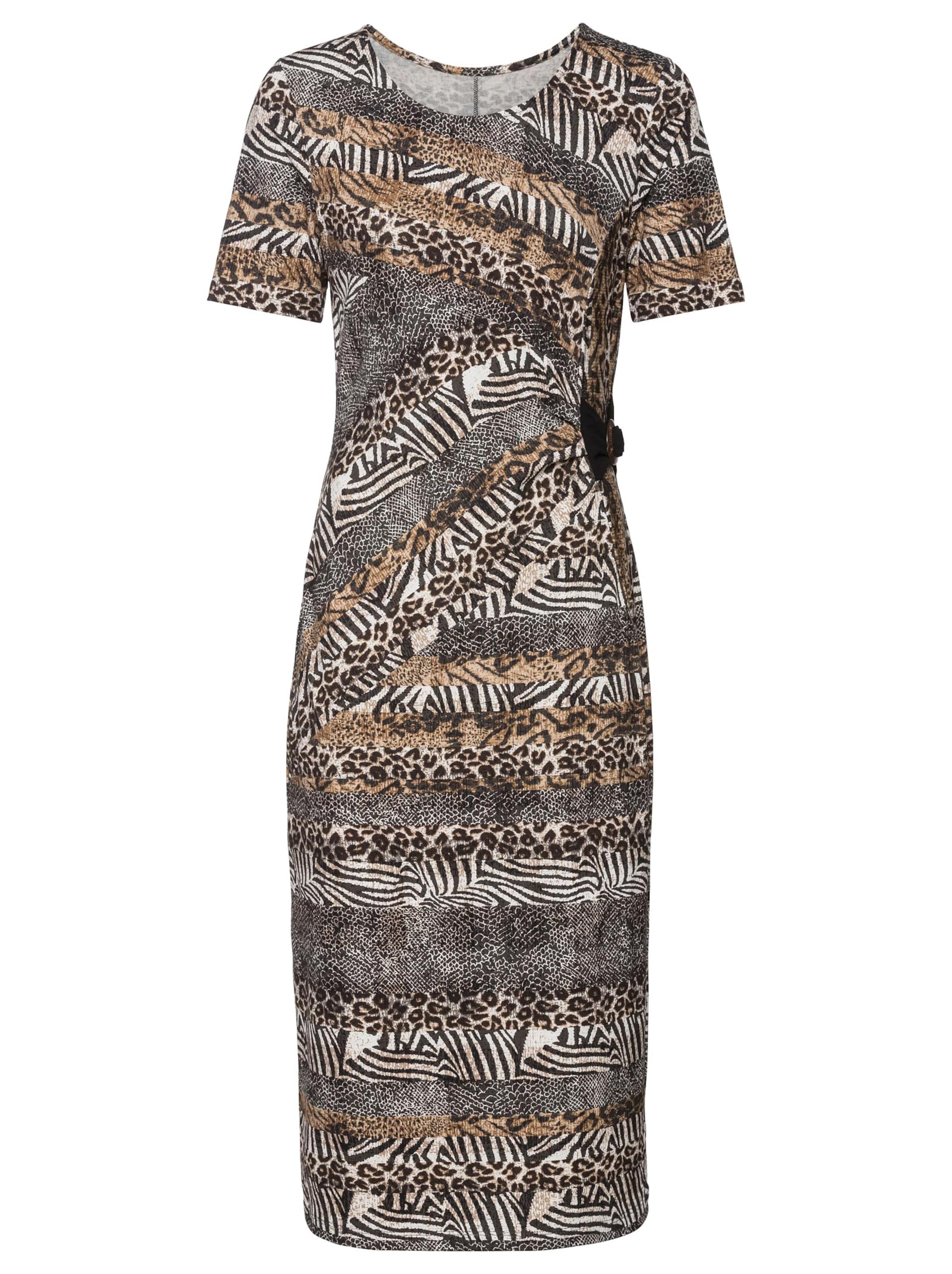 witt weiden -  Damen Jersey-Kleid camel-ecru-bedruckt