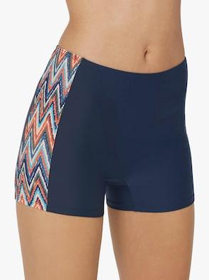 Bikini-Hose - marine-bunt-bedruckt