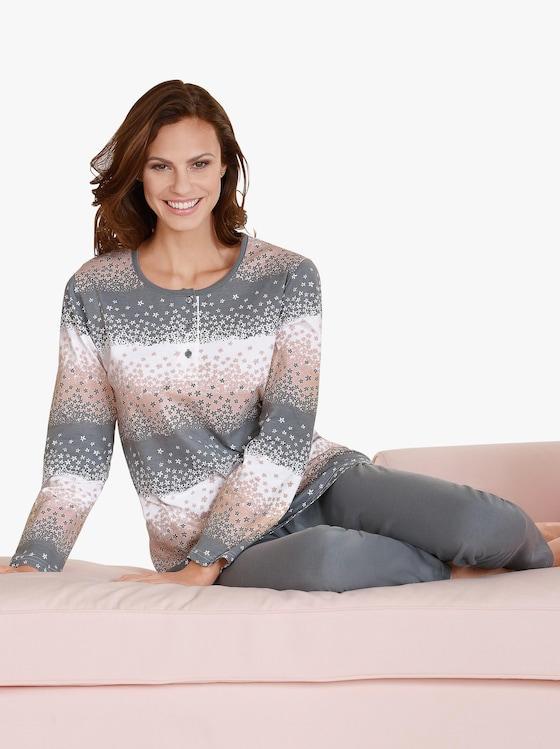 Top Ten Schlafanzug - grau-gemustert