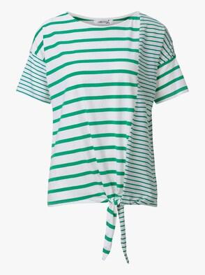 Shirt - grün-weiß-gestreift