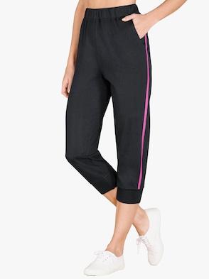 3/4-Hose - schwarz-pink
