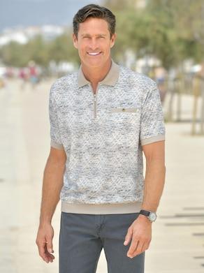 Marco Donati Poloshirt met korte mouwen - wit geprint
