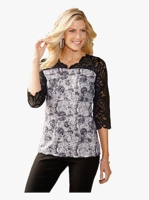Tričko - čierna vzorovaná
