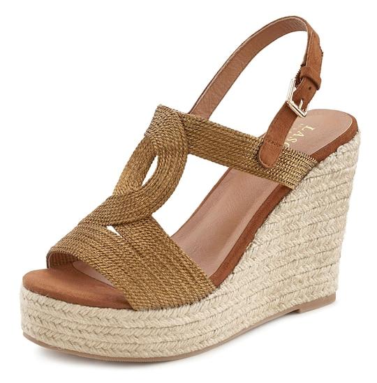 LASCANA High-Heel-Sandalette - bronzefarben
