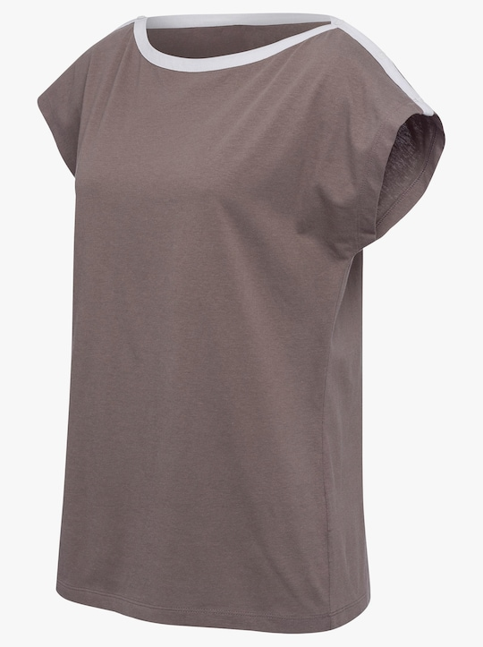 Shirt - donkertaupe