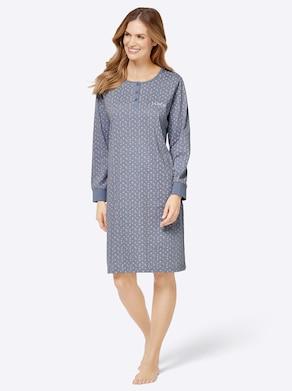 wäschepur Sleepshirt - taubenblau