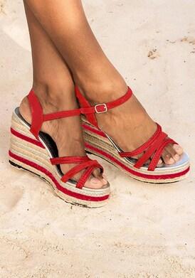 LASCANA High-Heel-Sandalette - rot