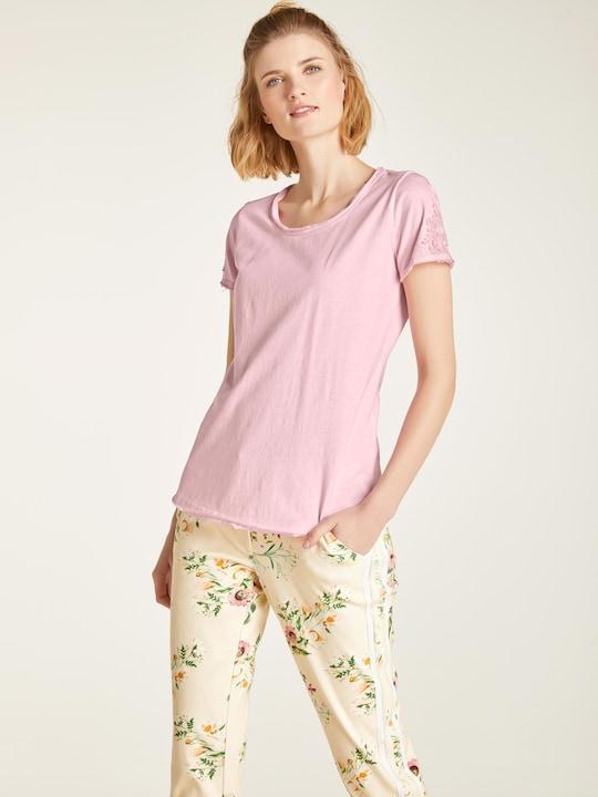 Linea Tesini Rundhals-Shirts - altrose