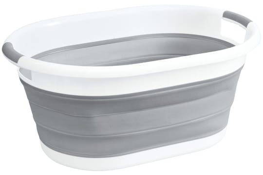 heine home Wäschekorb - weiß-grau