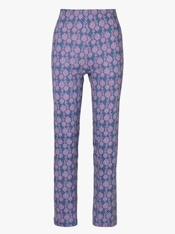 Schlafanzug-Hose - marine-bedruckt