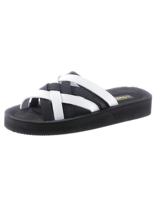 Siebi´s Bade-Pantolette - schwarz-weiß
