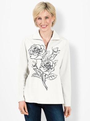 Sweatshirt - ecru-gemustert