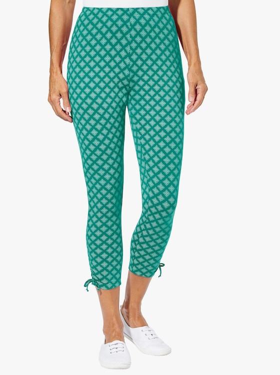 Leggings 3/4-lang - smaragd-gemustert