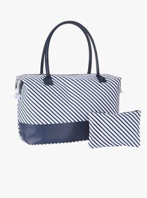 Handtasche mit Kosmetiktasche - marine