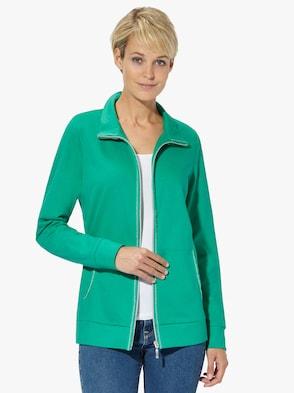 Shirtjacke - smaragdgrün