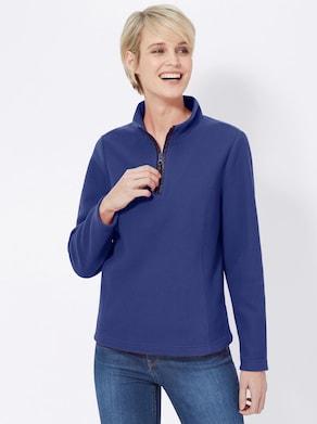 Fleece-Shirt - royalblau