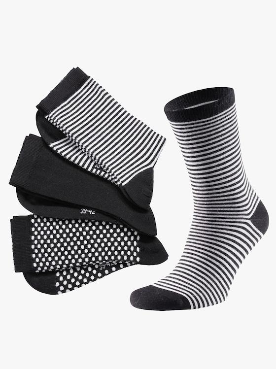wäschepur Dámske ponožky - čierna