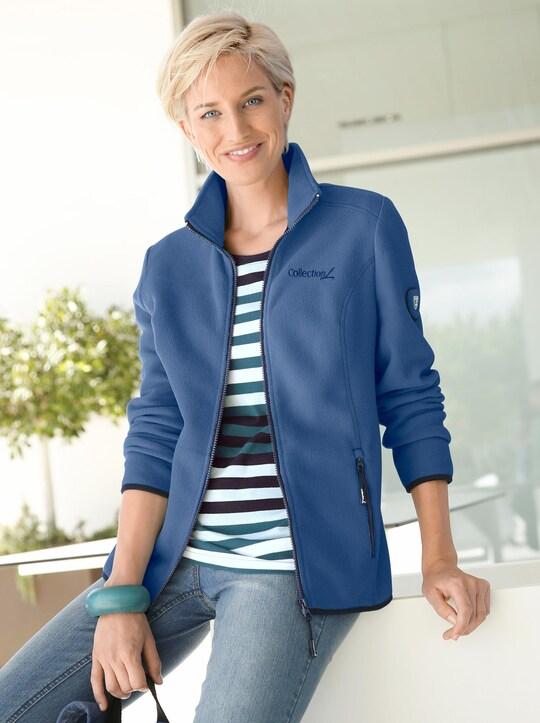 Collection L Fleece-Jacke - jeansblau
