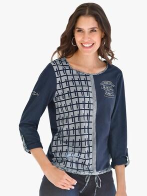 Shirt - marine-grau