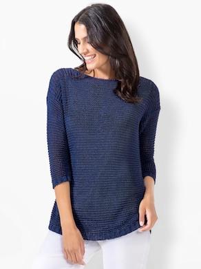 Pullover - rauchblau-meliert