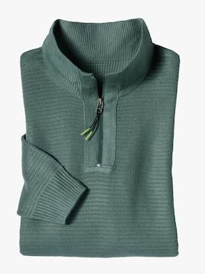 Stehkragen-Pullover - grün