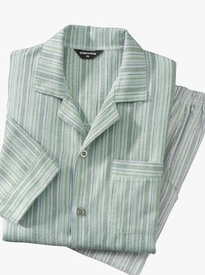 Pyjama - grün-gestreift