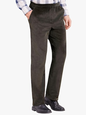 Ribcord broek - donkergroen