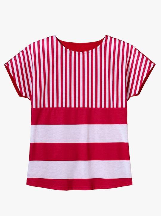 Shirt - rood/wit gestreept