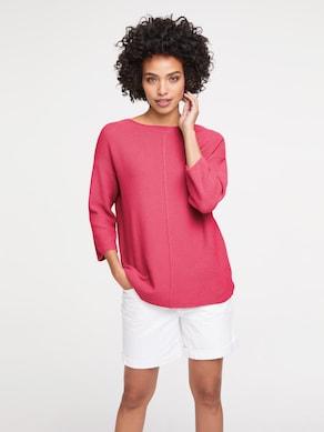 Linea Tesini Oversized Pullover - himbeere