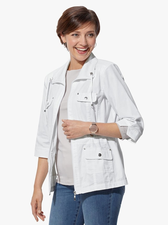 Blusenjacke - weiß