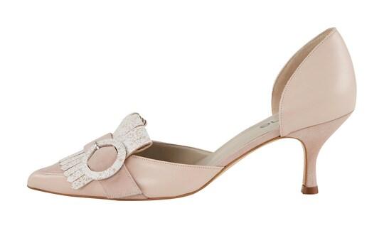 heine pumps - roze/wit