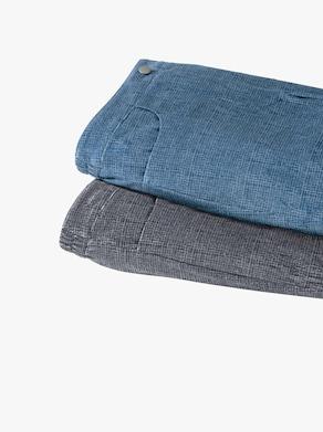 Byxor - mörkblå, mönstrad
