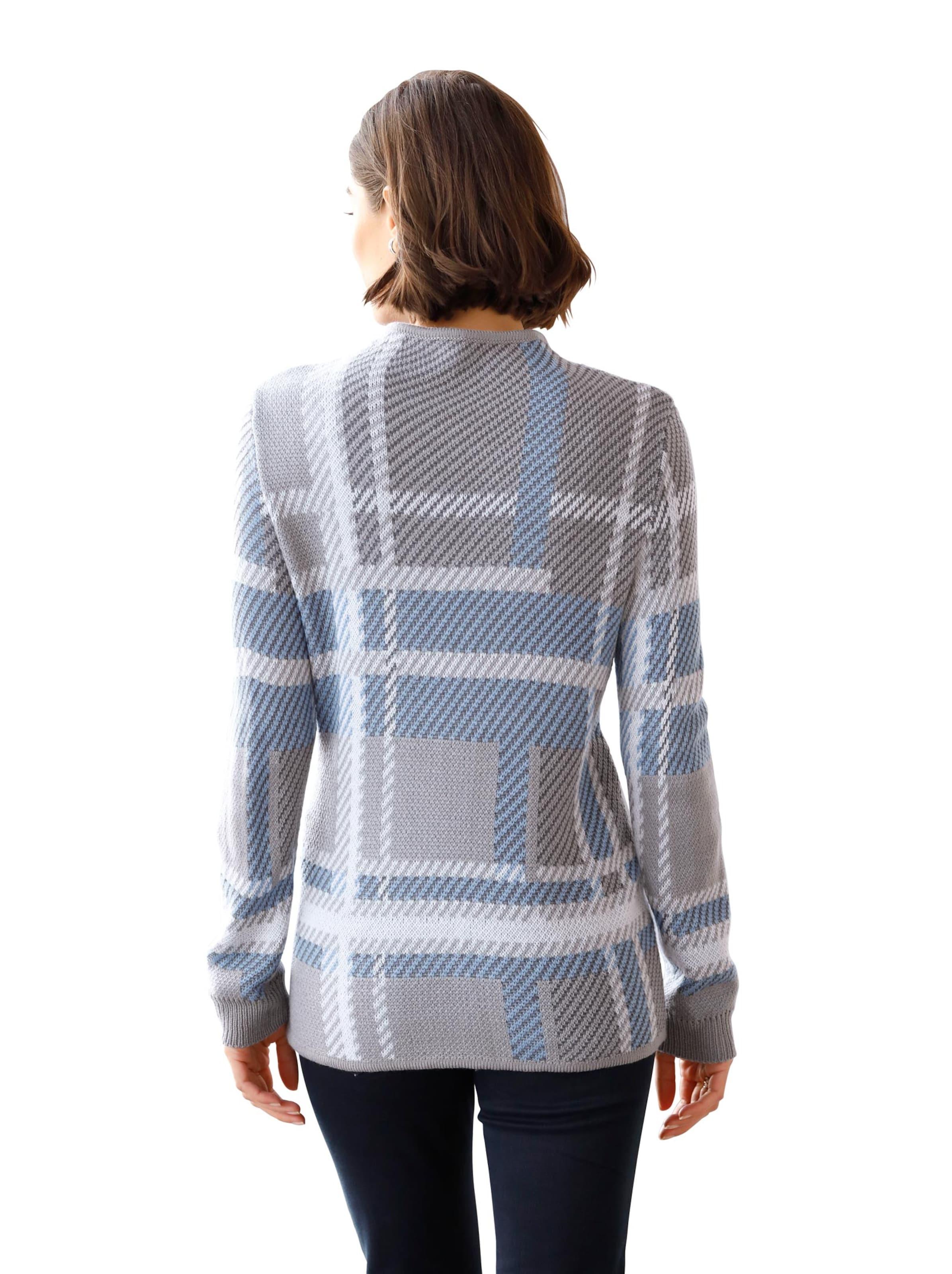 witt weiden -  Damen Pullover steingrau-kariert