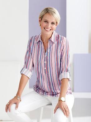 Bluse - weiß-gestreift