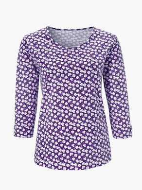 Shirt - prune gedessineerd