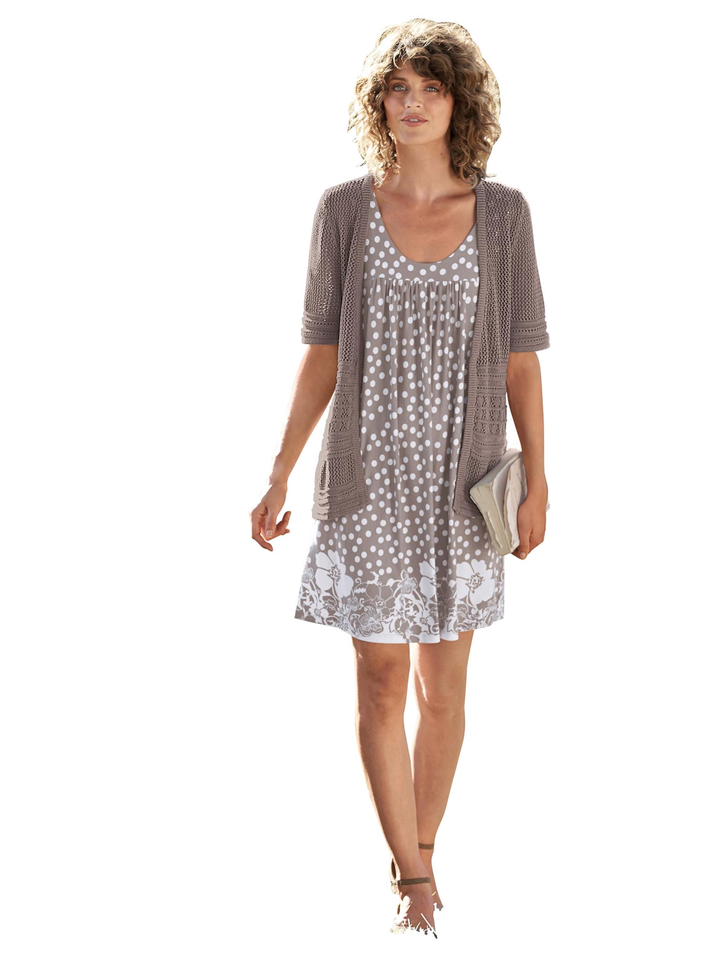 witt weiden -  Damen Tunika-Kleid taupe-gemustert